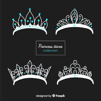 Silver princess tiara collection