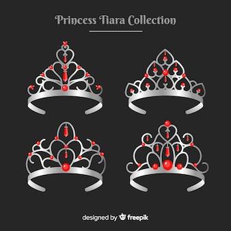 Silver princess tiara collection