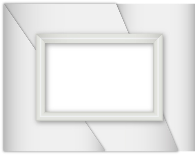 Silver realistic frame on white background