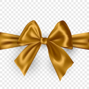 Silver ribbon bow with shadow isolated on transparent.