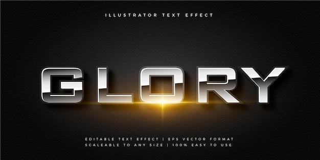 Серебряный блестящий эффект шрифта в стиле текста фильма