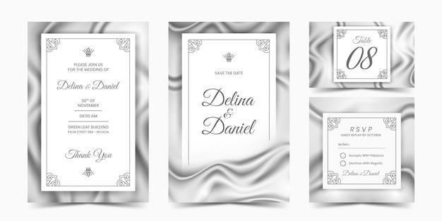 Silver silk invitation
