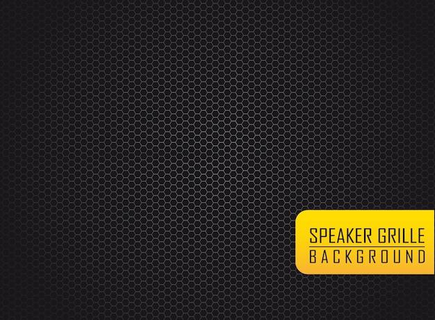 Silver speaker grille over black background vector illustration