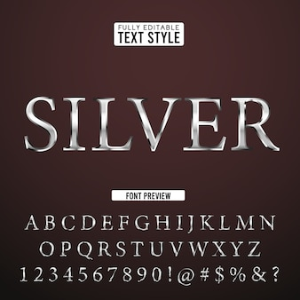 Silver steel medieval classic fantasy 3d text font alphabet effect collection set