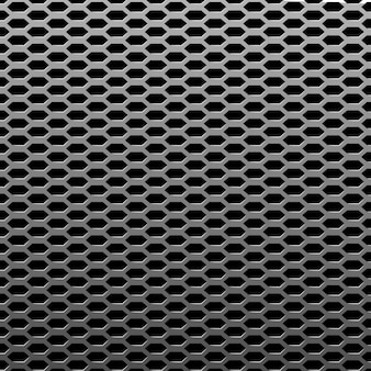 Silver or steel metal texture background. realistic perforated sheet structure. chrome industrial surface pattern.  illustration