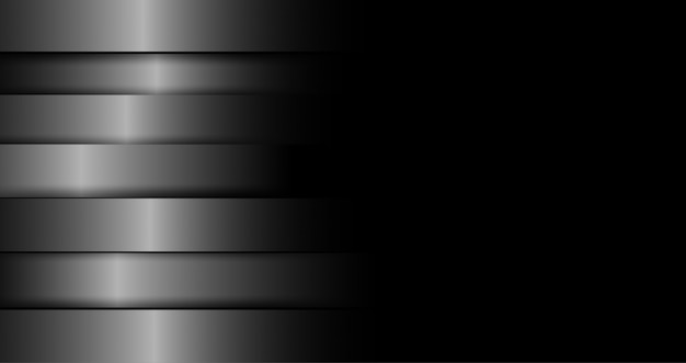 Silver steel overlap layer black background
