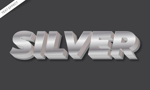 Silver text effect design vector