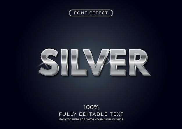 Silver text effect.  font style