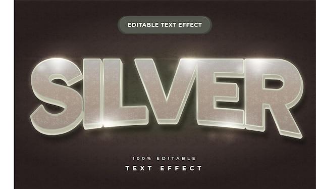 Серебряный текстовый эффект для иллюстратора