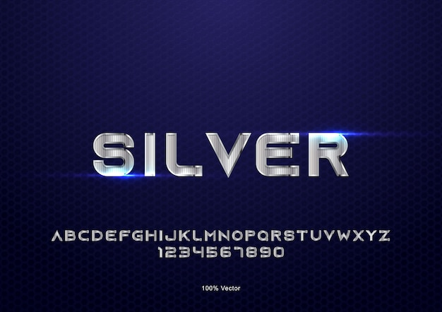 Silver text effect vector with texture decoration