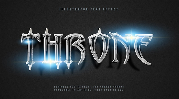 Эффект шрифта текста фильма серебряный трон