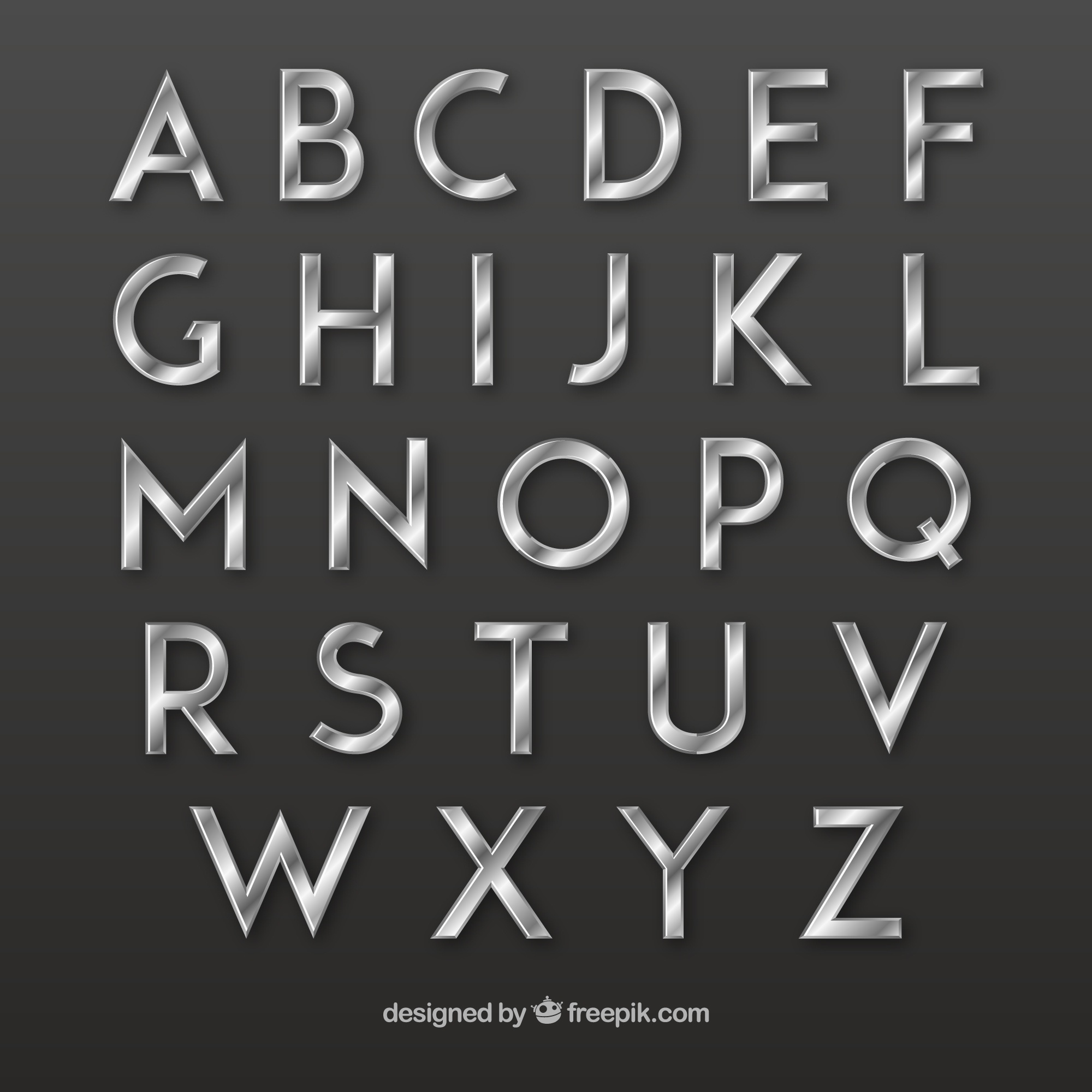 Silver typography