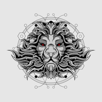 Silver ultimate lion sacred geometry