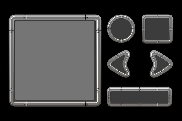Silver user interface for game menu