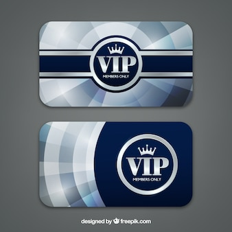 Silver vip cards with actual style