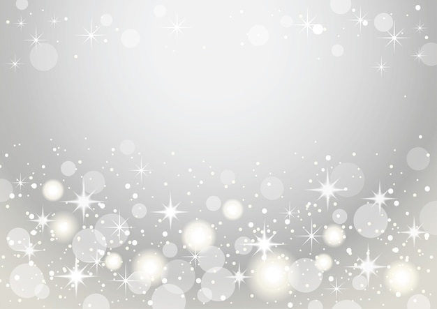 Silver and white abstract bokeh background.