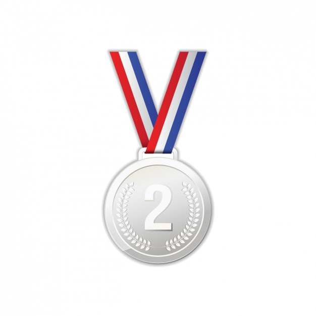 Silvery medal design
