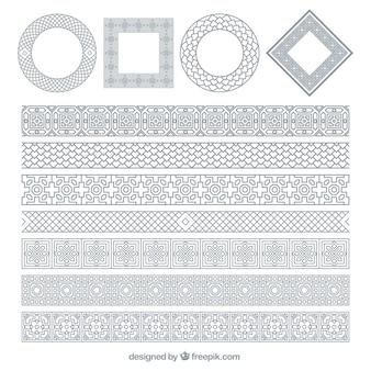 Cornici ornamentali silvery