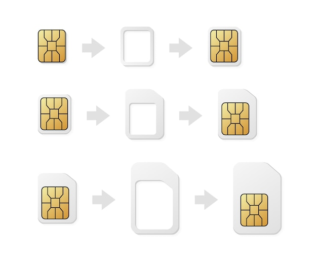 Sim card adapter. phone sim-card converter
