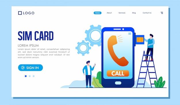 Sim card landing page