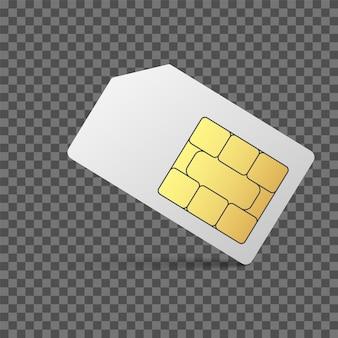 Sim card mobile phone icon chip cellphone simcard set
