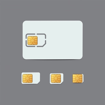 Sim card. plastic card of cellular connection . chip of sim card, micro and nano sim