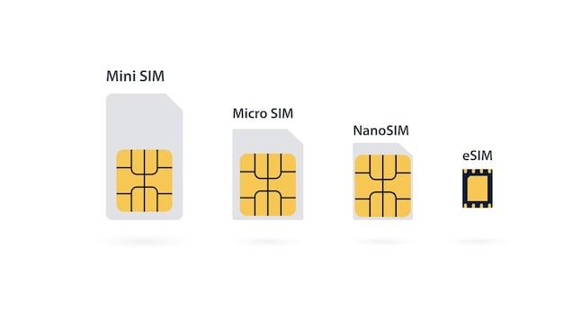 심 카드. 5g sim 카드 세트. 이동통신기술