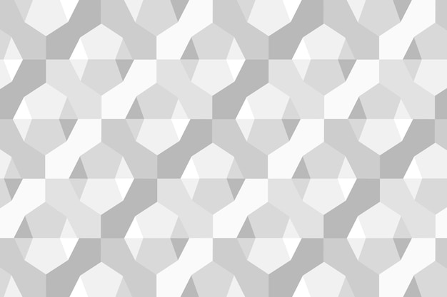 Simple 3d geometric pattern vector grey background