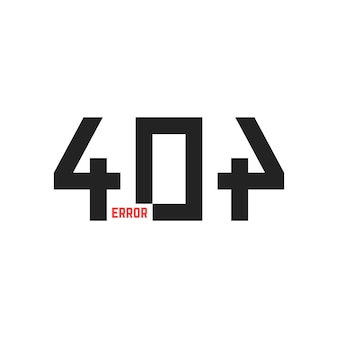 Simple 404 error sign. concept of technical fault, danger notice, under construction page, http response code. isolated on white background. flat style trend modern logo design vector illustration