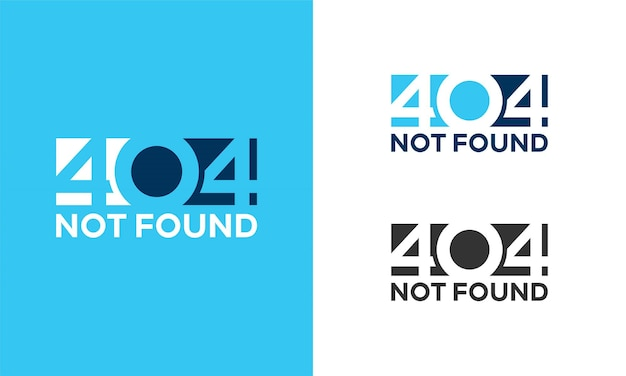 Simple 404 page not found error background illustration,