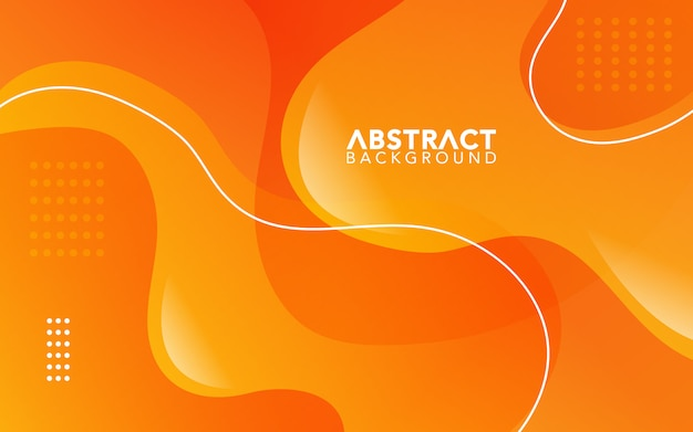 Simple abstract background with orange gradient style