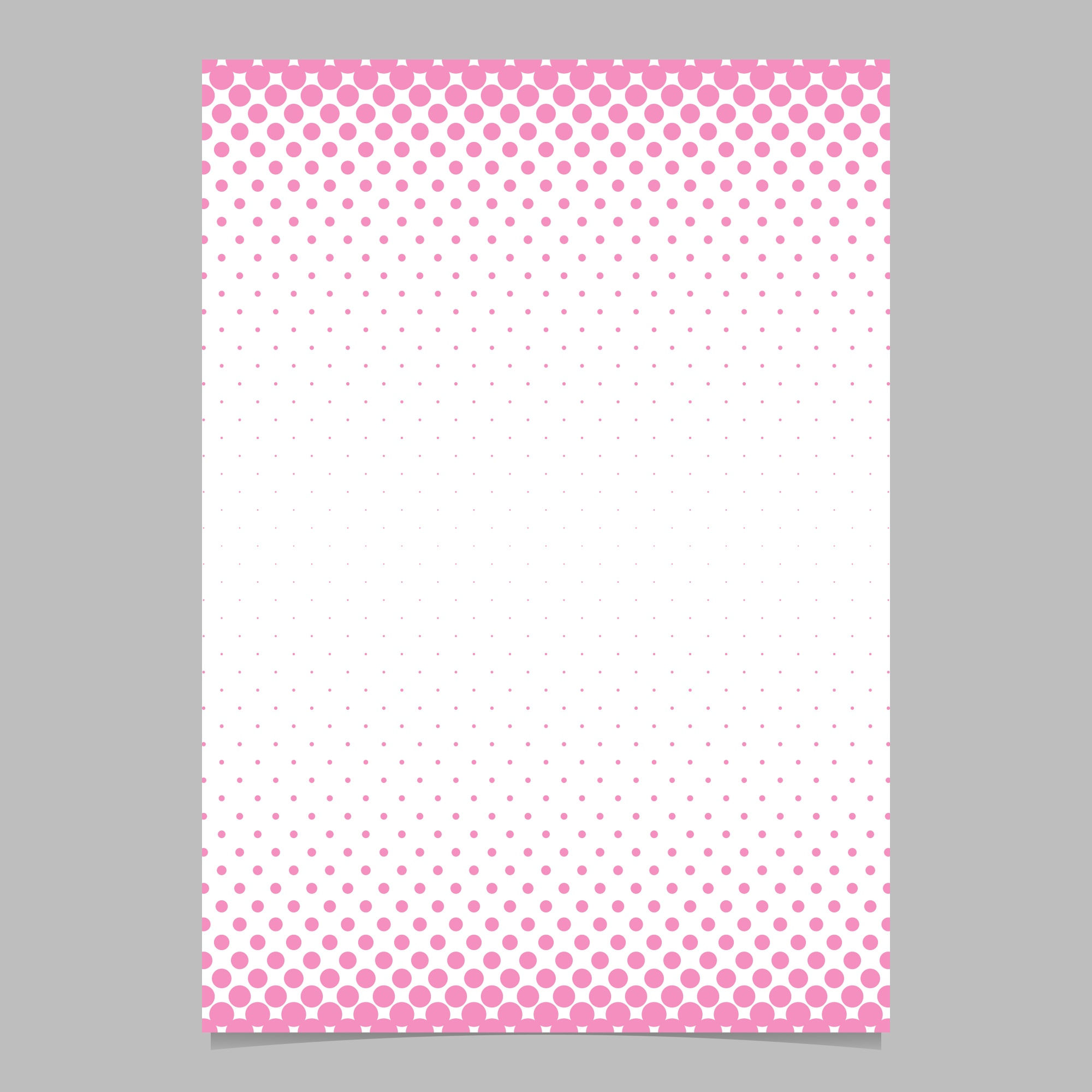 Simple abstract halftone dot pattern brochure design template - vector document background illustration with circle pattern