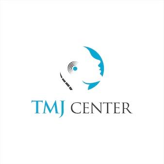 Simple abstract temporomandibular joint logo design template