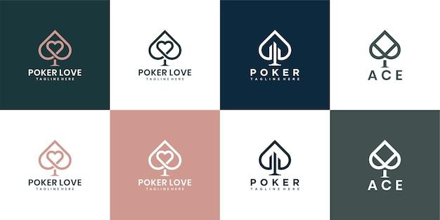 Simple ace logo. elegant logo design.