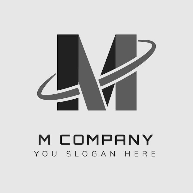 Semplice design del logo con slogan modificabile in alfabeto