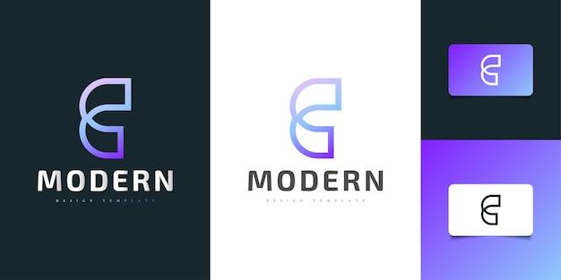 다채로운 그라데이션과 선 스타일의 심플하고 깨끗한 letter c 로고 디자인. 기업 비즈니스 아이덴티티에 대한 그래픽 알파벳 기호