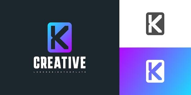 다채로운 현대적인 개념의 단순하고 깨끗한 편지 k 로고 디자인. 이니셜 k 로고. 기업 비즈니스 아이덴티티에 대한 그래픽 알파벳 기호