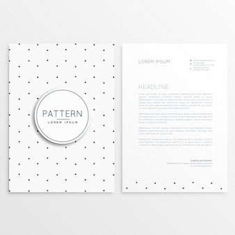 Simple and cute letterhead template