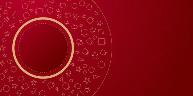赤い背景に金色の線でシンプルでエレガントなクリスマスのプレゼンテーションデザインクリスマスwinte ...