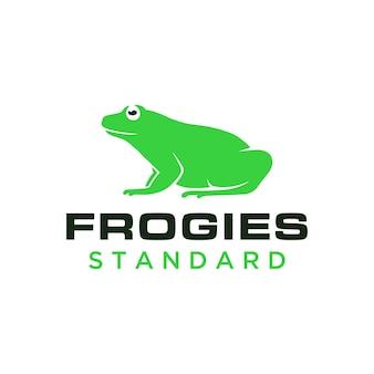 Простой и современный логотип лягушки для команды бизнес-сообщества компании и т. д.