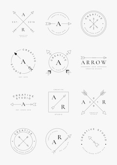 Simple arrow badge set