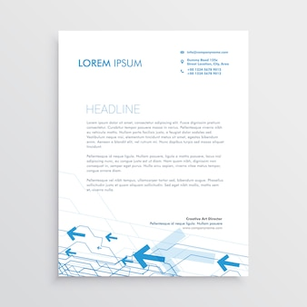 Simple arrow letterhead template design