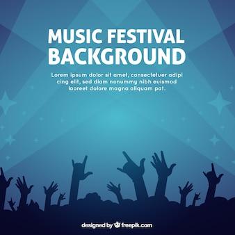 Простой фон для музыкального фестиваля