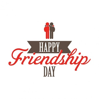 Simple background of friendship day