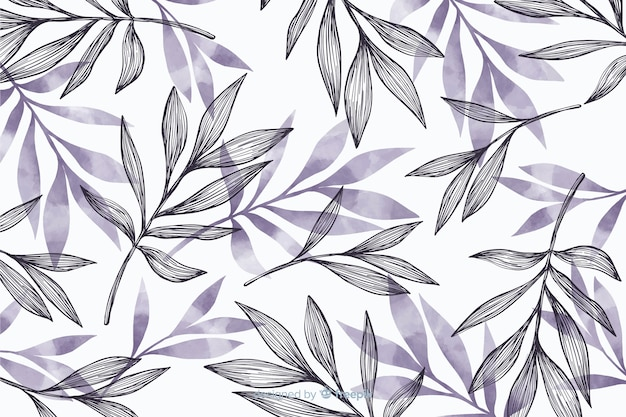 Simple background with gray leaves