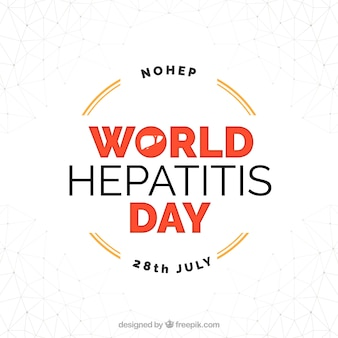 Simple background with hepatitis day badge