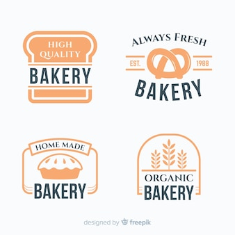 Simple bakery logo pack