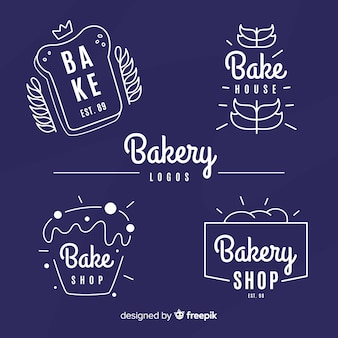 Simple bakery logos collection