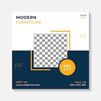 Simple banner post background layout template for exterior interior and furniture home business