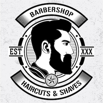Simple barber shop vector logo